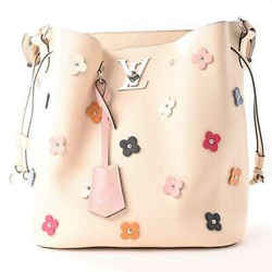 Auth Louis Vuitton Louis Vuitton Lv Twist Lock Flower Rock Me Bucket Light Beige