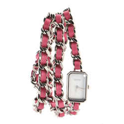 Premiere Rock Triple Row Quartz Watch Stainless Steel and Leather with Mother of Pearl 16