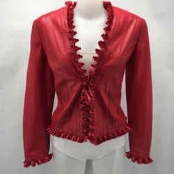 St John Red Leather Jacket 4