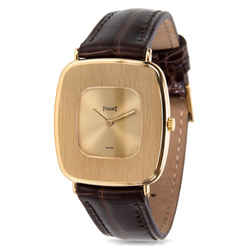 Vintage Piaget Dress 99121 Unisex Watch In 18k Yellow Gold