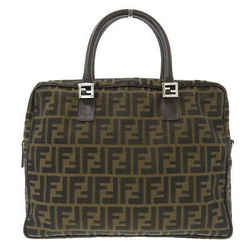 Auth Fendi Zucca Canvas 2way Business Bag Brown 83155901 992 Leather