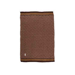 Vintage Brown & Multicolor Yves Saint Laurent Printed Scarf