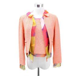 Chanel Peach Polyamide Wool 3 Piece Skirt Suit sz 36