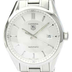 Polished TAG HEUER Carrera Calibre 5 Steel Automatic Mens Watch WV211A BF513337