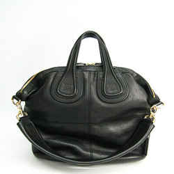 Givenchy Nightingale Medium Leather Handbag Black Bf504611