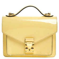 Louis Vuitton Yellow Vernis Leather Monceau BB Bag