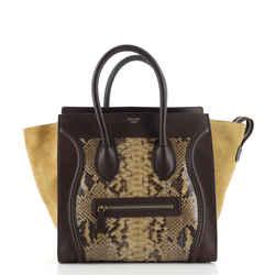 Luggage Bag Python and Leather Mini