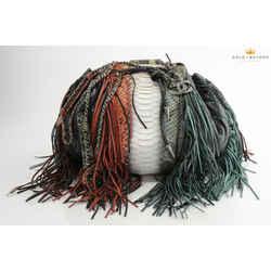 Chanel Western Baluchon Python Fringe Shoulder Bag