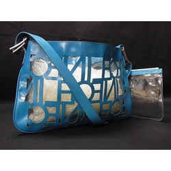 Celine Translucent Blue Clear Tote with Pouch 240870