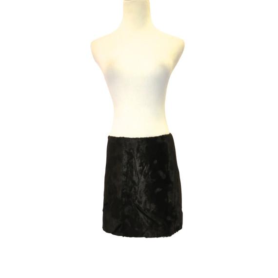 Milly Brown Faux Fur Mini Skirt