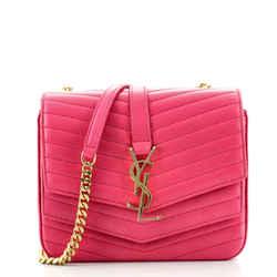 Sulpice Flap Bag Matelasse Chevron Leather Small
