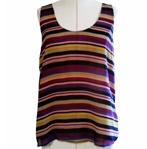 Brand New with tags Joie Silk Striped Multi Color Tank