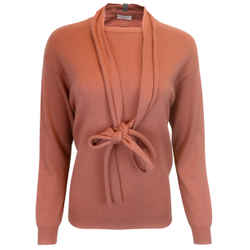 Brunello Cucinelli Salmon Pink Cashmere Knit Sweater