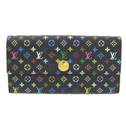 Auth Louis Vuitton Louis Vuitton Multi Portofeuil Sara Long Wallet Pistash Black