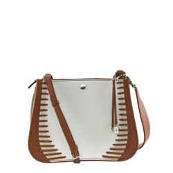 """Loro Piana Milky Way Woven Stripes White Leather Shoulder Bag 10""""L x 4""""W x 8""""H"""