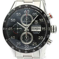 Polished TAG HEUER Carrera Calibre 16 Chronograph Day Date Watch CV2A10 BF518821