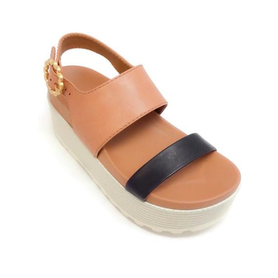 See By Chloe Tan / Black Flatform Sandals