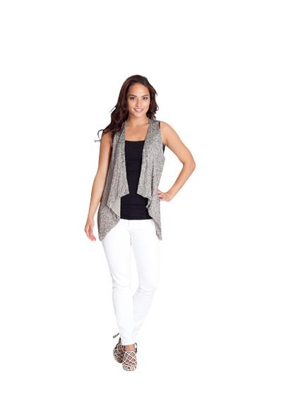 Alice + Olivia Gray Silver Sequin Vest