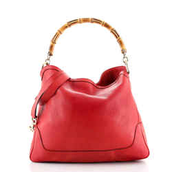 Diana Bamboo Shoulder Bag Leather Medium