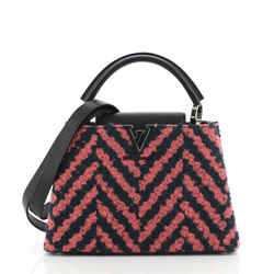 Capucines Bag Chevron Tweed with Leather BB