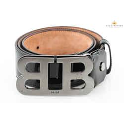 Bally Mirror Logo Patent Leather Belt Size 110/44