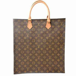 Auth Louis Vuitton Louis Vuitton Monogram Sack Plastic Handbag Brown Pvc