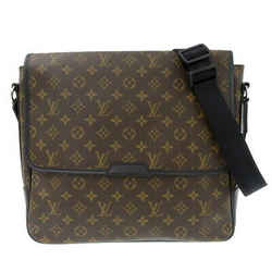 Auth Louis Vuitton Monogram Macassar Bus Gm Shoulder Bag M40386 Leather