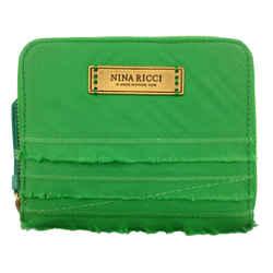 Nina Ricci Green Zip Around Wallet