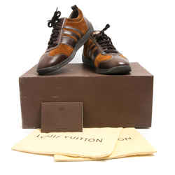 Louis Vuitton Brown Leather Cinnamon Suede Sneakers