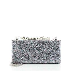 Celeste S Box Clutch Glitter Fabric