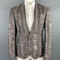Mcq By Alexander Mcqueen Size 44 Taupe Print Cotton / Silk Sport Coat