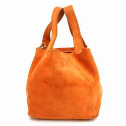 Hermes Orange Suede Picotin 18 PM 868694