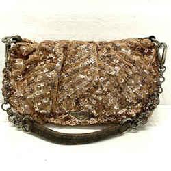 Prada Sacca Antico Satin Rose Gold Sequins Handbag Shoulder Bag Purse