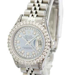 Rolex Lady Datejust Blue Mop Diamond Dial Diamond Lugs/bezel-quickset
