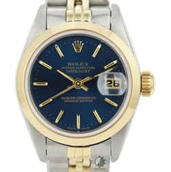 All Original Rolex Lady Datejust 26mm Blue Dial Smooth Bezel Watch
