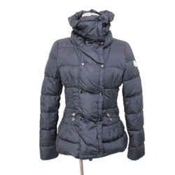 Moncler Black Nylon Down Coat Sz 2