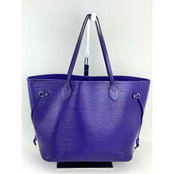 Louis Vuitton Neverfull Mm Purple  Leather Shoulder Tote Bag  Preowned A519