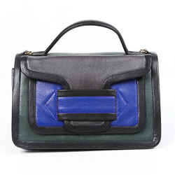 Pierre Hardy Bag Alpha Blue Green Leather Crossbody