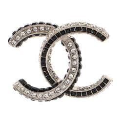 CC Brooch Metal with Crystals