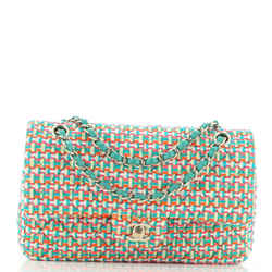 Classic Double Flap Bag Quilted Multicolor Tweed Medium