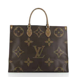 Onthego Tote Limited Edition Reverse Monogram Giant Gm Leprix