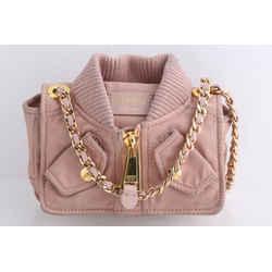 Moschino Pink Nylon Bomber Jacket Shoulder Bag