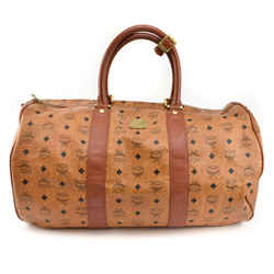 """MCM """"Munchen"""": Cognac, Leather & Logo Large Duffel/Weekender Bag (nr)"""