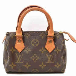 Auth Louis Vuitton Louis Vuitton Monogram Mini Speedy Handbag Leather