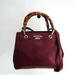 Gucci Bamboo Shopper 336032 Women's Leather,Bamboo Handbag,Shoulder Bag BF522990