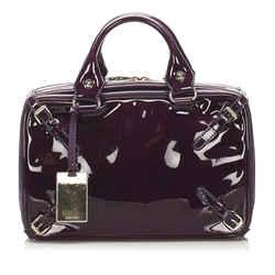 Purple Celine Patent Leather Handbag Bag
