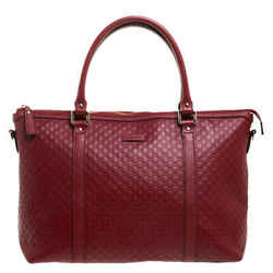 Gucci Red Microguccissima Leather Margaux Tote