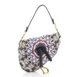 Saddle Handbag Beaded KaleiDiorscopic Calfskin Medium