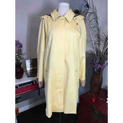 Burberry Size 12 Yellow Cotton Nova Check Trim Jacket 2531-8-51120