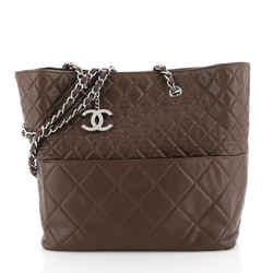 In The Business Tote Quilted Lambskin North South